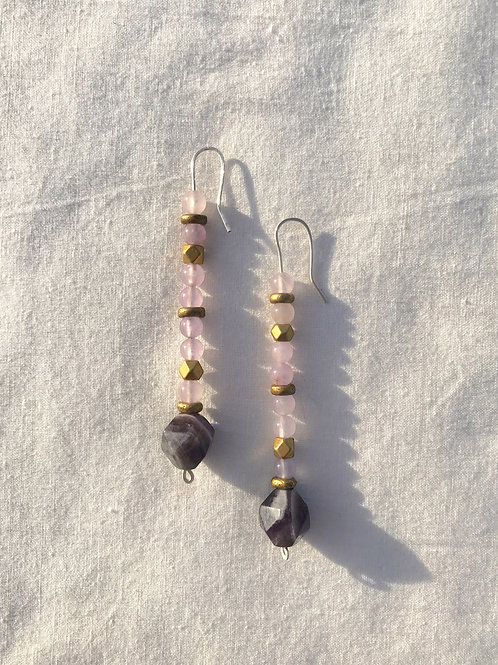 Amethyst Stack Earrings