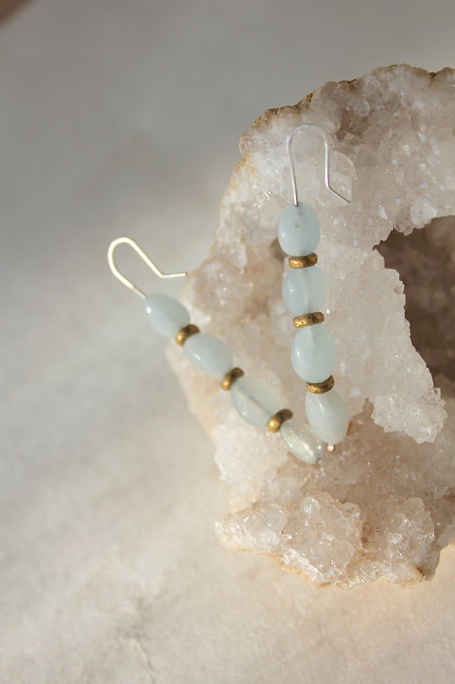 Aquamarine Stack Earrings