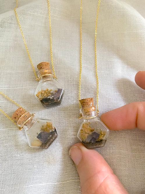 Tiny Everlasting Terrarium necklaces starting at: