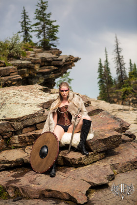 Warrior Photo Session Shield Maiden