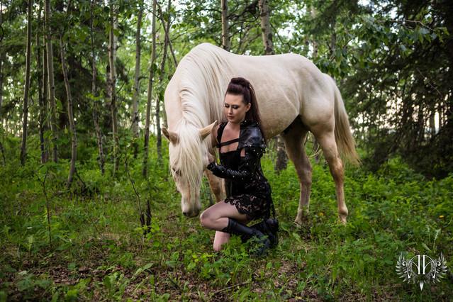 Warrior & Goddess Outdoor Boudoir Calgary