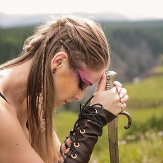 Warrior Photo Session Shield Maiden