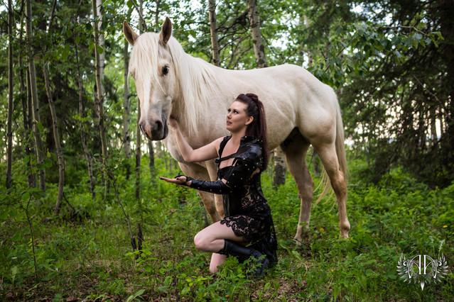 Warrior Outdoor Boudoir Alberta