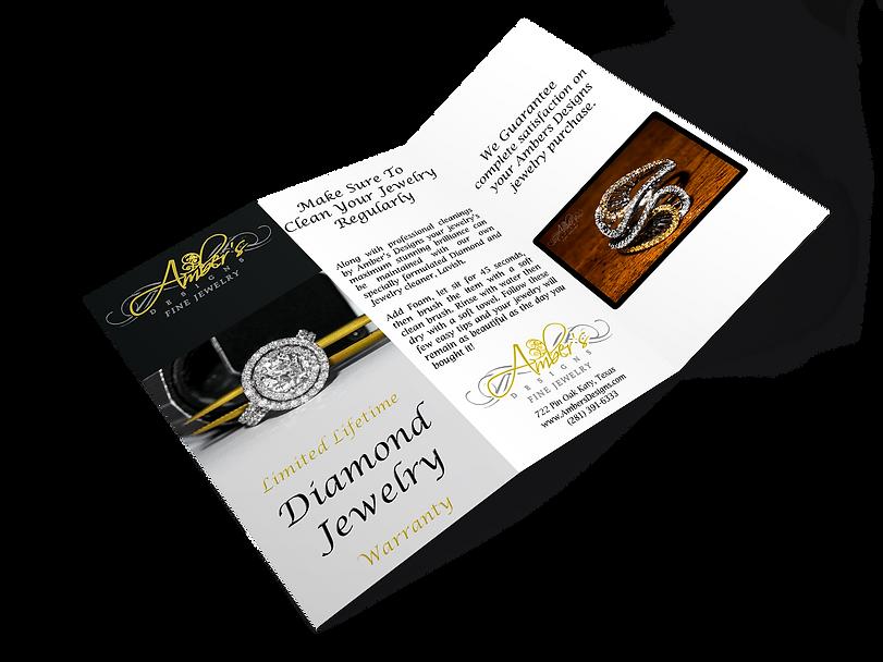 Ambers Designs Limited Lifetime Dimaond Jewelry warranty