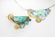 Custom Opal and Tanzanite Pendant