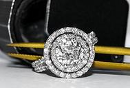 jewelry appraisals, katy appraisal, houston appraisal, texas appraisal, engagement ring, inspection, diamond, wedding, love, modern, halo, double halo,