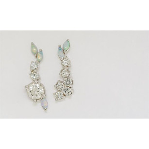 A stunning set of diamond and opal climb