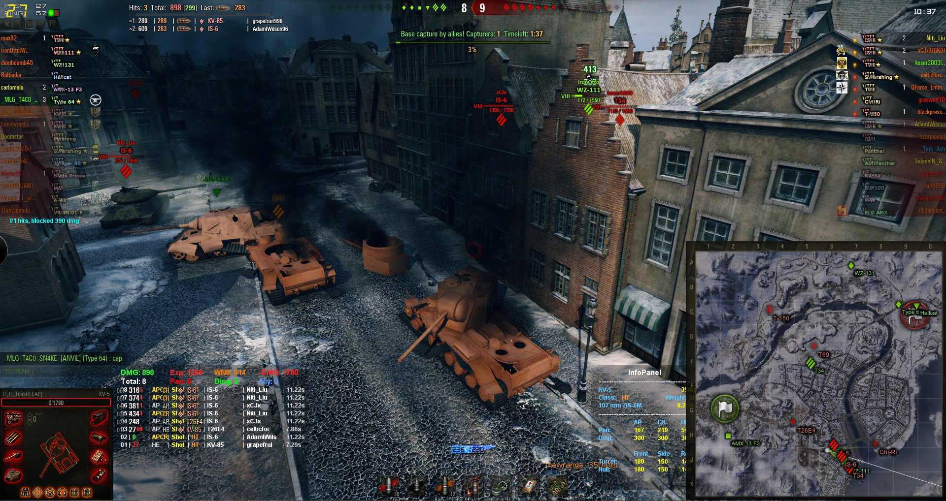 Lumberped losses his KV-5 head