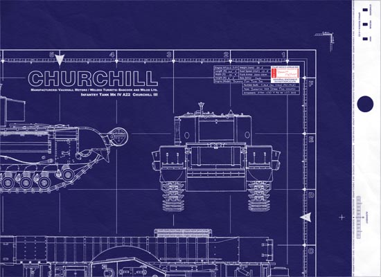 WWII British Churchill-MkIII Blueprints