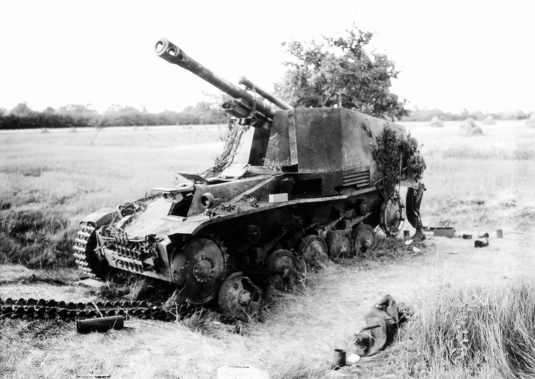 Destroyed German Self-Propelled Gun Carriage