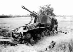Destroyed German Self-Propelled Gun Carriage