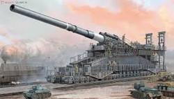"- 800mm (31.5 inch) German Artillery - ""Dora"""