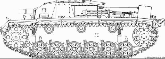 StuGIII Ausf-A Drawing