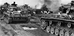 WWI Tanks After Battle
