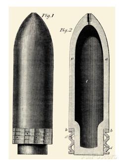 Exploding Artillery Shell - for Breech Loaders