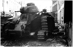 Disabled French Tank - Beaumont Belgium - May1940