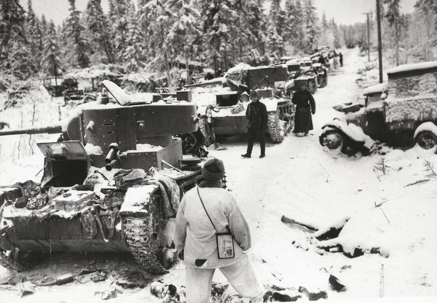 WWII Tank Column