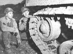 Soldiers Repairing Tank Tracks