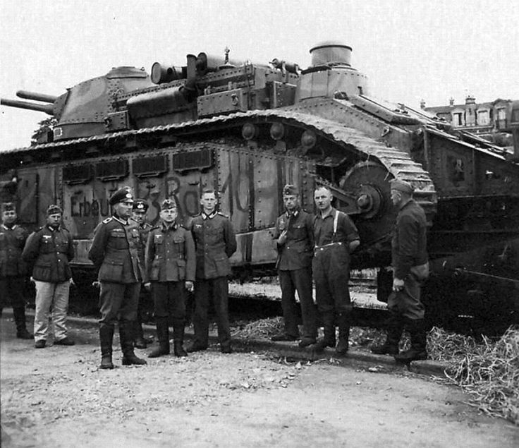 German Officers in Front of Tank