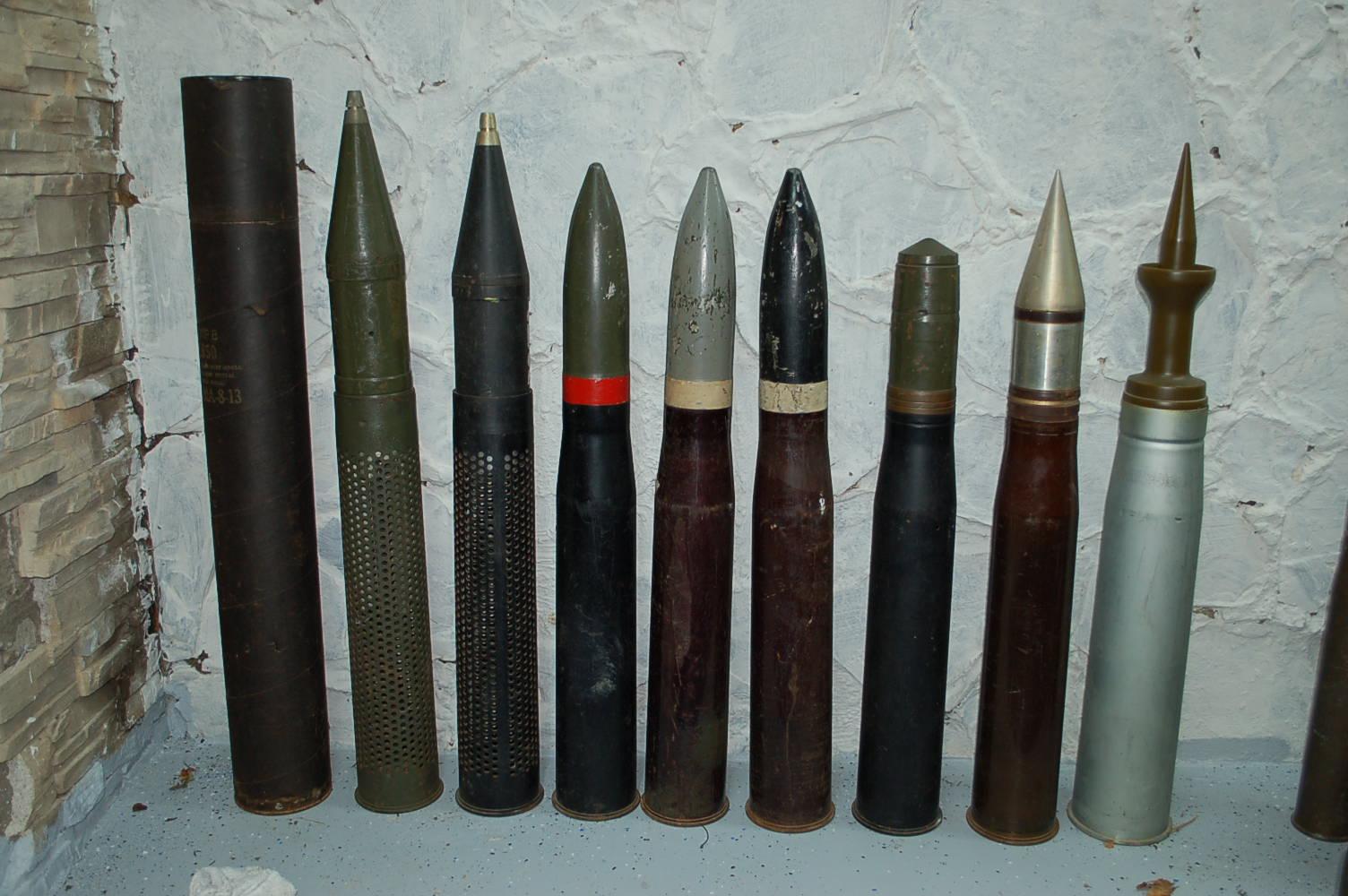 WWII Tank Shells