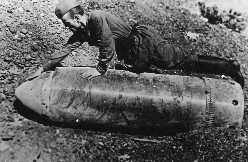 Soviet Soldier Artillery Shell