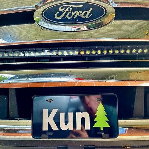 KunTree License Plate
