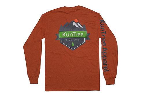 "Orange ""Live KunTree Life"" LS"