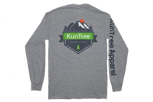 "Gray ""Live KunTree Life"" LS"