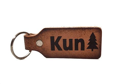 """""""KunTree"""" Leather Keychain"""