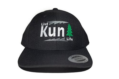 """Live Life"" Hat Black ""KunTree"" Snapback"