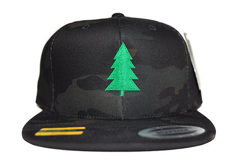 """Tree"" Logo Hat Dark Camo Snapback"