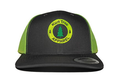 """KunTree Apparel"" Hat Charcoal w/ Neon Yellow Mesh Snapback"