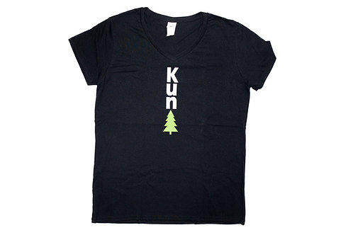 "Black ""KunTree"" V-neck"