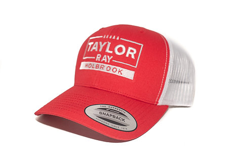 """Taylor Ray"" Hat Red w/ White Mesh Snapback"