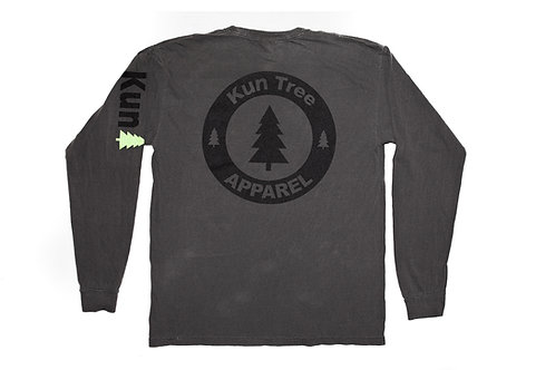 "Charcoal ""KunTree Apparel"" LS Pocket"