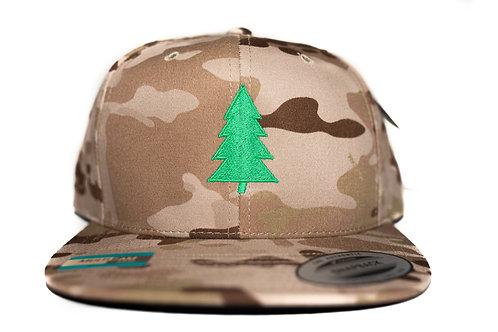 """Tree"" Logo Hat Brown Camo Snapback"