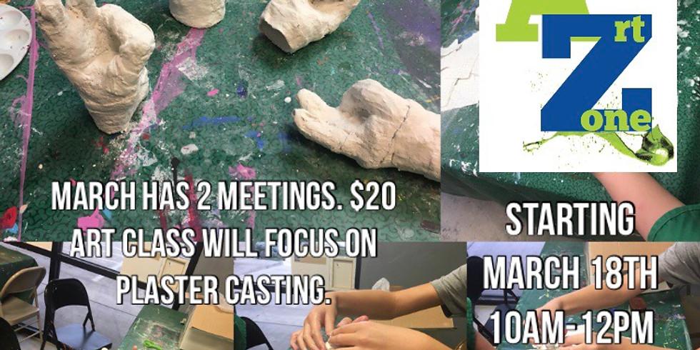 Homeschool Art & PE: Plaster Hand Casts