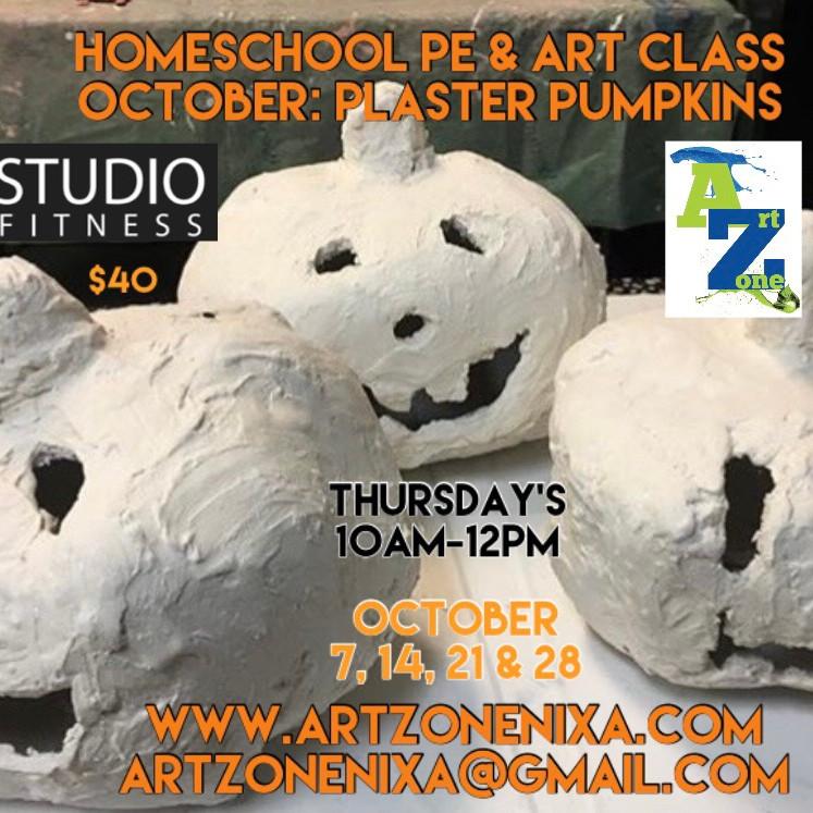 Homeschool Art & PE: Plaster Pumpkin