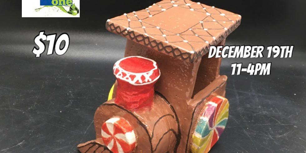 Clay Gingerbread Train