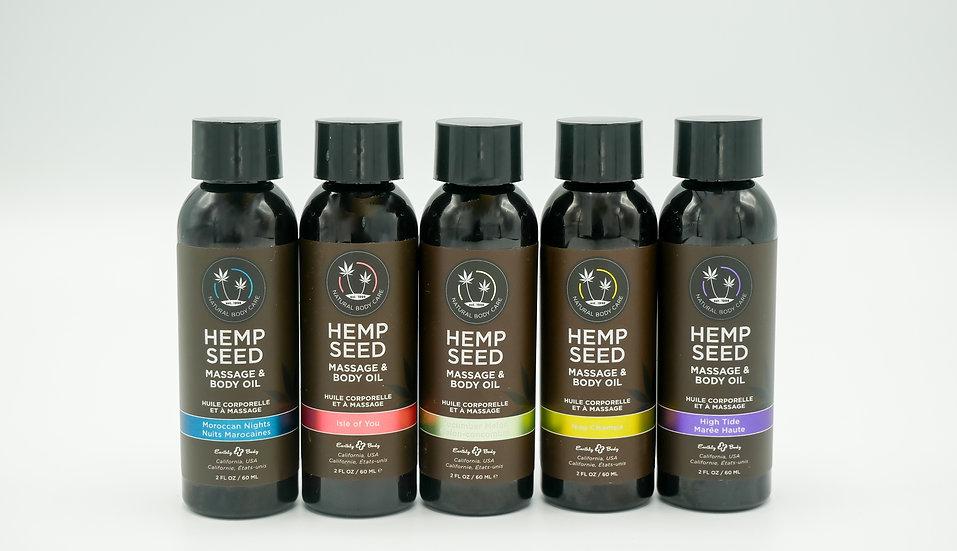 2oz Hemp Massage Oils