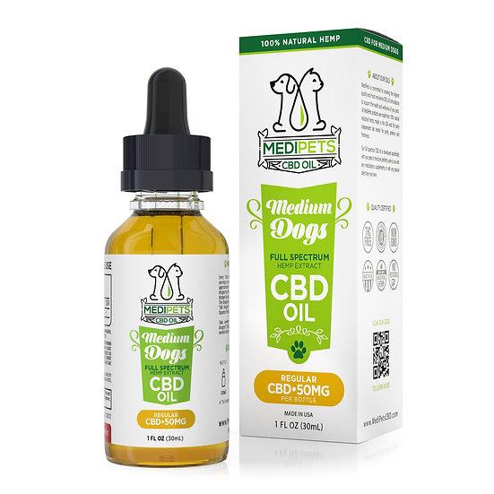 MediPets CBD Oil for Medium Dogs - 50mg (30ml)
