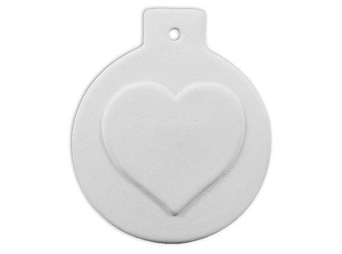 Flat Ball Heart Ornament