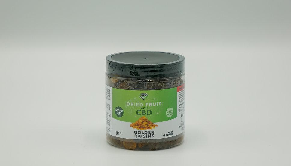 CBD Dried Fruit - Golden Raisins - 500mg