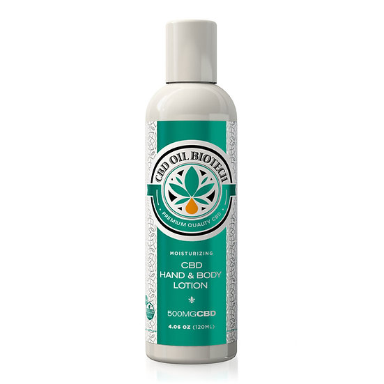 CBD Oil Biotech Hand & Body Lotion - 500mg