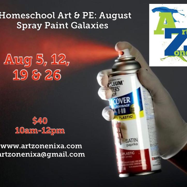 Homeschool Art & PE: Spray Paint Art
