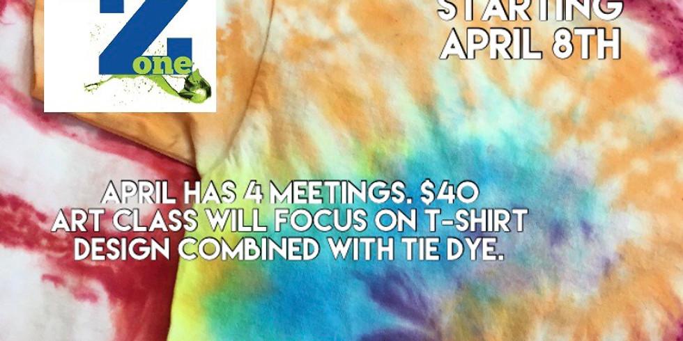 Homeschool Art & PE: T-shirt Design & Tie Dye