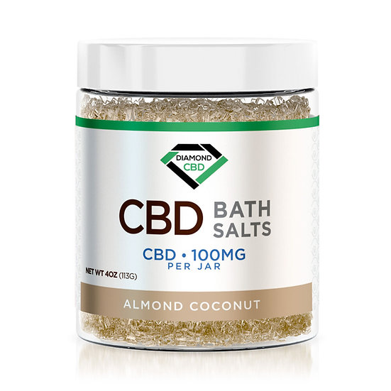 CBD Bath Salts - Almond Coconut - 100mg