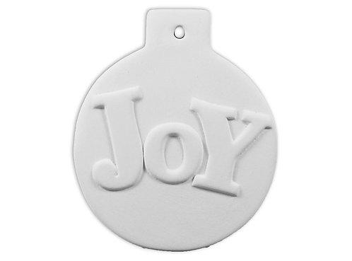 """Flat Ball """"Joy"""" Ornament"""