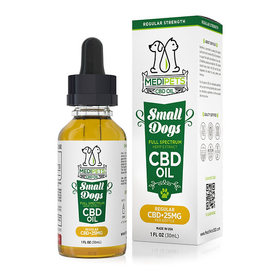 MediPets CBD Oil for Small Dogs - 25mg (30ml)