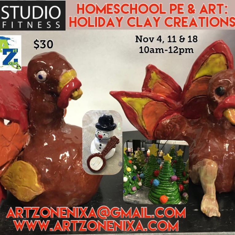 Homeschool Art & PE: Holiday Clay Creations